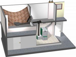 Sisteme de depozitare si transport pentru cazane cu peleti